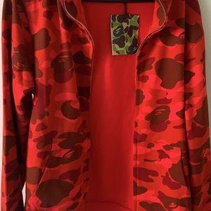 Red WGM Bape Hoodie